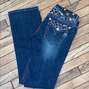 Miss Me Boot Jeans | Black Sequin